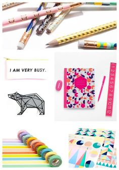 back to school: Tons of ideas for cute, cool, colorful school supplies for kids of any age.