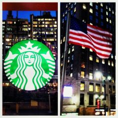 Garment District – Starbucks and the City Macy's Herald Square, Garment District, Starbucks, Flag, Nyc, City, York, Places, Science