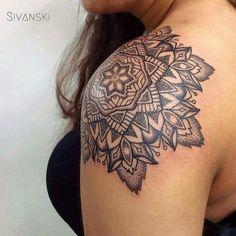 New mandala tattoo shoulder woman ink 69 ideas Henna Tattoo Designs, Henna Tattoos, Paar Tattoos, Tattoo You, Body Art Tattoos, New Tattoos, Small Tattoos, Tatoos, Mandala Tattoo Schulter