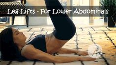 this is the workout that helps you get rid of the lower belly pooch. if you are like me and end up rolling around put your hands into a diamond shape and put it under your butt to stop you from rolling, try it i swear you will see results asap