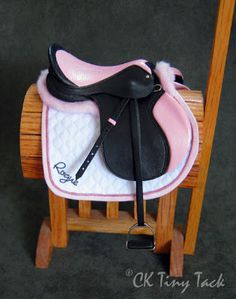CK Tiny Tack: Saddles. This little thing would be the perfect saddle for a cute little pony!