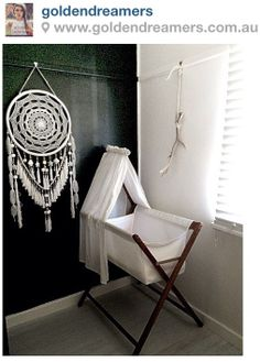 Large White And Gold Beads & Jewels Dreamcatcher - Excellent Nursery Decor