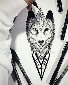 Nice Tattoos, Wolf Tattoos, Tattoo Sketches, Drawing Sketches, Drawings, Piercing Tattoo, Piercings, Tattos, Blackwork