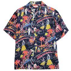 """SUNSURF Aloha shirt """"HAWAII CALLS"""""""