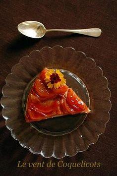 ひまわり 夏のフルーツのプディング・デイプロマット Pêches jaunes caramelisées au Pudding diplomate