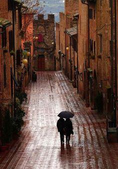Rainy Day, Certaldo, Tuscany, Italy
