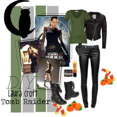 """DIY Halloween Laura Croft Tomb Raider"" by the-freckled-gypsy on Polyvore"