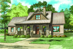 Rustic Master Down 3 Bed Retreat - 60675ND | Country, Craftsman, Mountain, 1st Floor Master Suite, CAD Available, PDF, Corner Lot | Architectural Designs