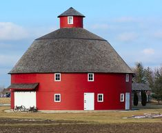 My grandparents always told me a guy died in that round barn,  when I asked why they said he couldn't find a corner to pee in. .  :-D