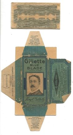 Gillette Blue Blade Razor with original wrapper. Perfect for making a crystal radio kit....