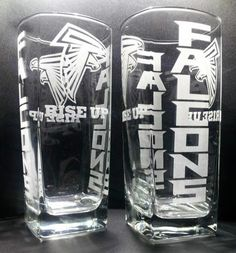 Etched Atlanta Falcons Four Sided Glass Set | eBay