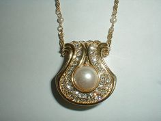 vintage nolan miller gold plated pave crystal by fadedglitter42263, $68.00