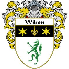 Wilson Coat of Arms    http://irishcoatofarms.org/ has a wide variety of products with your surname with your coat of arms/family crest, flags and national symbols from England, Ireland, Scotland and Wale