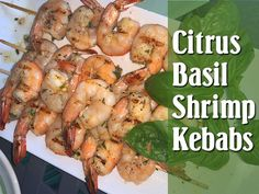 These babies marinated in orange, lemon and basil are lickety-split fast, extremely simple, and so freakin' yummy! Fresh Herbs, Poultry, Basil, Shrimp, Appetizers, Meat, Recipes, Lemon, Orange