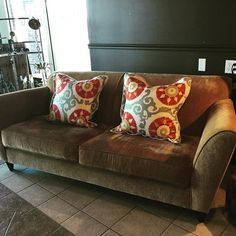 Dania Sofa! Add couple accent pillows to add a pop of color! https://instagram.com/p/-Re8_lLG84/