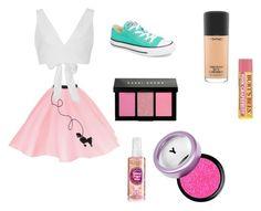 """Pin up outfit"" by kawaiitumblr on Polyvore featuring moda, Kalita, Converse, MAC Cosmetics y Bobbi Brown Cosmetics"