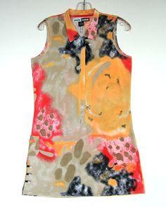 Jamie Sadock Golf Athletic Dress M 8 10 12 Tennis Abstract Mini Sleeveless Sheat