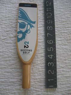 Rare Htf-second Self Beer Co Beer Tap Handle-gose-pirate Graphics-7