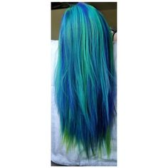 Green Hair Colors ❤ liked on Polyvore featuring beauty products, haircare, hair color, hair and hairstyles