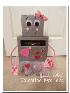 Kids' Activities: Girly Robot Valentine Box Idea   Penny Pinching Parent
