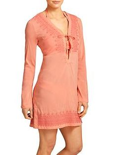 Kimssa Tunic - The ultimate stretch voile beach tunic with a flattering empire waistline.