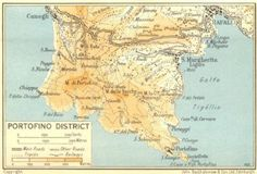ITALY: Piedmont & Liguria: Portofino District, 1953 map