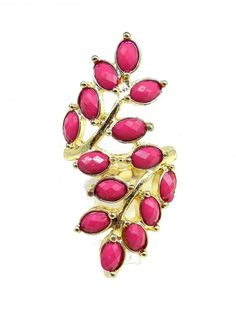 Elastic Jewel Ring in Dark Pink - $12.00 : FashionCupcake, Designer Clothing, Accessories, and Gifts