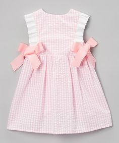 Loving this Pink Seersucker Dallas Dress - Infant & Toddler on #zulily! #zulilyfinds