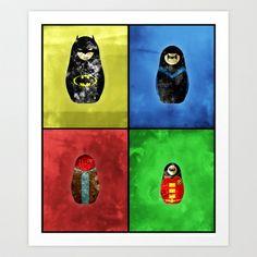 Alt Russian Dolls in Gotham Art Print by Scumbag Lifestyle - $18.00 @Veronica vasilevsky