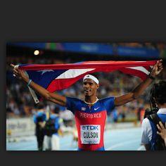 Describe tu pin...Atleta Javier Culson, orgullo boricua que hoy junio 7,2012 gana prueba 400 metros en Noruega. Nuevo logro y  super ready para representarnos dignamente en Olimpiadas de Londres