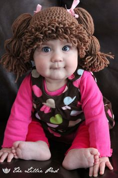 Cabbage Patch Kid Inspired Hat Crochet PATTERN  by TheLilliePad, $5.99