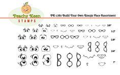 PK-1780 Build Your Own Emojis Face Assortment