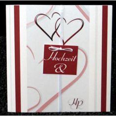 """Rote Einladung """"Traufe, ich will!"""" mit Herzen und Streifen Home Decor, Red Wedding, Silver Anniversary, Getting Married, Celebration, Invitations, Stripes, Decoration Home, Room Decor"""