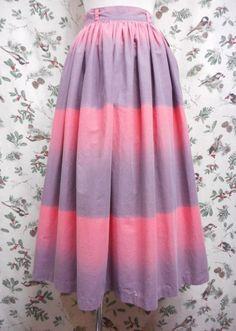 '50s Vintage Skirt 〜ピンク&グレーグラデーション〜
