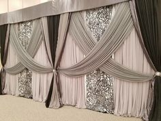 Most Popular Wedding Backdrop Curtains Draping Ideas