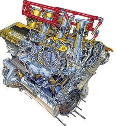 Alfa 2.5V6 155 Touring Car Engine