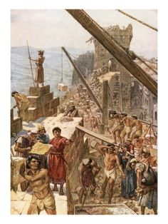 Rebuilding the Wall of Jerusalem under Nehemiah Giclee Print