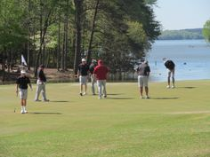 First practice rounds of the 2014 ACC Men's Golf Championship at Old North State Club at Uwharrie Point.
