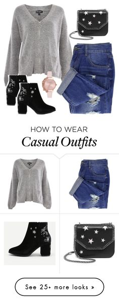 """Casual Sunday"" by megans-got-clothes on Polyvore featuring Topshop, Olivia Burton and STELLA McCARTNEY"