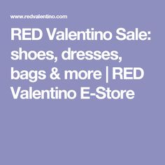 RED Valentino Sale: shoes, dresses, bags & more | RED Valentino E-Store