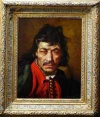 "Lajos Polczer (Hungarian 1902-?)"" Selfportrait"""