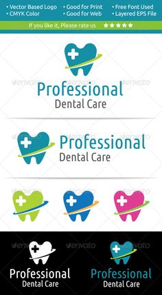 Dental Care Logo — Vector EPS #hospital #tooth • Available here → https://graphicriver.net/item/dental-care-logo/7258954?ref=pxcr