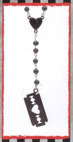 Razor Blade Rosary Necklace by Rock Rebel