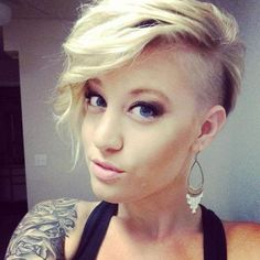 Image result for short hairstyles with shaved side