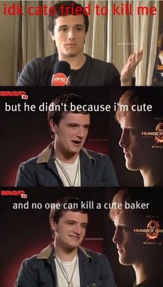 and no one can kill a cute baker. Bc Josh is just that cute!