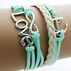 Fine or Fashion: Fashion Item Type: Bracelets Style: Trendy Gender: Women Setting Type: None Material: Leather Chain Type: Rope Chain Length: 17cm Clasp Type: Lobster Metals Type: Zinc Alloy Shape\pat