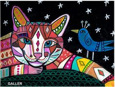 Cat Original Painting by Heather Galler Cat by HeatherGallerArt, $325.00