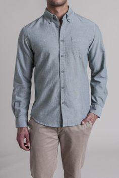 Retrofit L/S Button Up Woven Shirt $44 s-xl