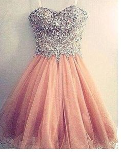 Blush pink homecoming dress,short prom by solo on zibbet Dama Dresses, Cute Prom Dresses, Grad Dresses, Quinceanera Dresses, 15 Dresses, Pretty Dresses, Homecoming Dresses, Beautiful Dresses, Dress Outfits