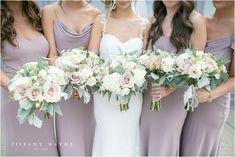 ideas wedding photos poses bridesmaid the dress Bridesmaid Bouquet White, Blush Pink Wedding Dress, Purple Wedding Flowers, White Wedding Bouquets, Wedding Bridesmaid Dresses, Rose Wedding, Mauve Wedding, Pink Bouquet, Flower Bouquets